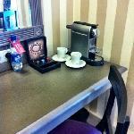 Nespresso machine in the room