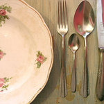 Antique plates and silverware
