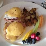 A most delicious Eggs Benedict at Chef's Table