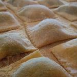 ravioli with spinach and fresh local ricotta
