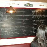 The menu board at La Cantine du Troquet