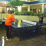 The kids enjoyed playing Ping-Pong and pool