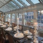 Private Dining in the greenhouse