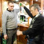 learning to pour the Spanish cider