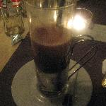 Hot chocolate after dinner.