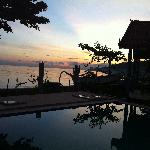 Sunset at Surya Rainbow Villa's