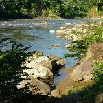 Blick vom Hostal auf den Misahualli River