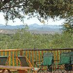 Enjoy our famous cheeseboards and wine on the deck overlooking the river and mountains