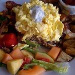Turkey Hash & Scrambled Eggs
