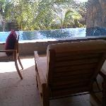 outside the room - private pool !!!