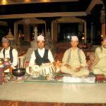 Nepalese folk singers perfoming