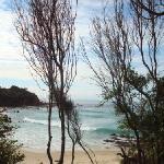 Pristine beaches surround you.