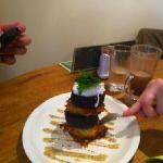 black pudding stack