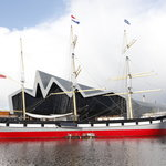 The Tall Ship berthed at The Riverside Museum, Glasgow
