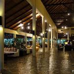 The lobby at night
