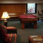 Game room, The Lodge, lower level.
