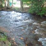 The beautiful creek running alongside the inn.
