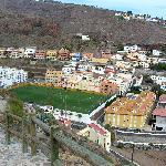 Blick auf das Stadion (von gegenüber)