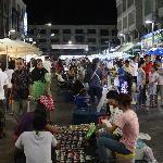 Night scene at the night market, Krabi town.
