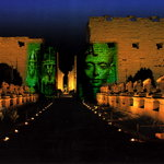 TheKkarnak temple in night
