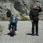 Bin viel mit meinem Moped unterwegs