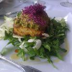 Pistachio Cruster Grouper over Greens