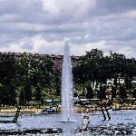 Krishnaragasagar dam in the background
