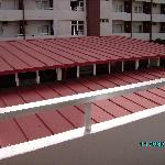 show bar red roof to close to rooms on 2nd floor i took this from my balcony