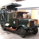 Tram overhead line maintence truck (1920s)
