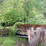 Puente que va a las cabañas