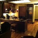 kitchen view from living room