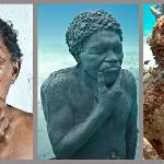 """The """"Silent Evolution"""" sculptures are all based on real individuals from the Yucatan area."""