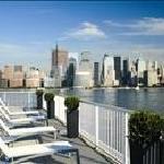 Enjoy views of the Manhattan skyline and river