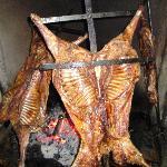 fresh roasted lamb