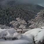 veduta con la neve
