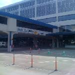 view of terminal frontage from parking lot
