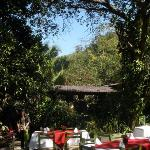 A view of the restaurant where we eat after ziplining