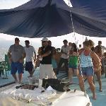 our booze cruise family on the Bora Bora