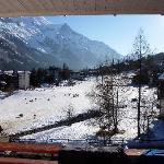 View from our Balcony across the Nursery Slopes