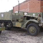 Halftrack in the process of being restored