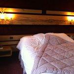 vue de la chambre : le lit