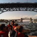 Paddling in the city canoe tour