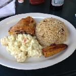 chicken, rice and beans for $10