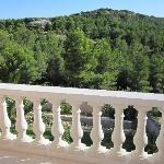 vue de notre terrasse de la chambre