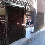 Entrance to Riad Schanez.