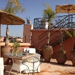 Sky bar, 360* view uncovering the whole of the Medina, from the Atlas mountains to the Kutobia T