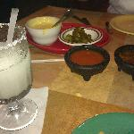 Frozen Margarita and Queso!