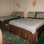 Queen beds in double room