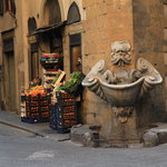 Lovely street fountain in Oltrarno