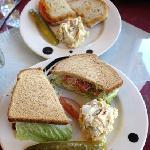 Sandwiches and potato salad